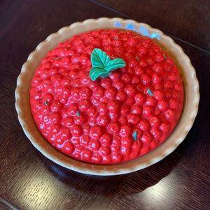 Ceramic Cherry Pie Dish Made in USA Treasure Coast